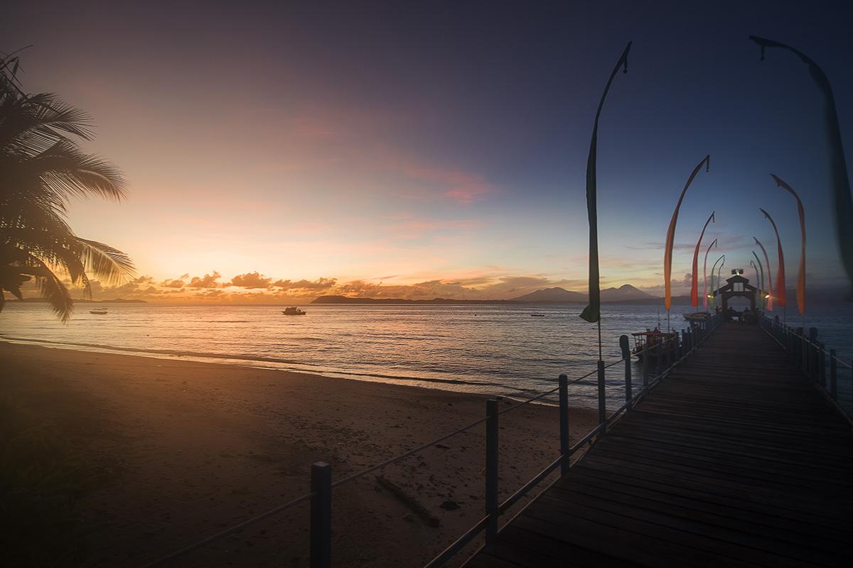 Sunset at Gangga Island