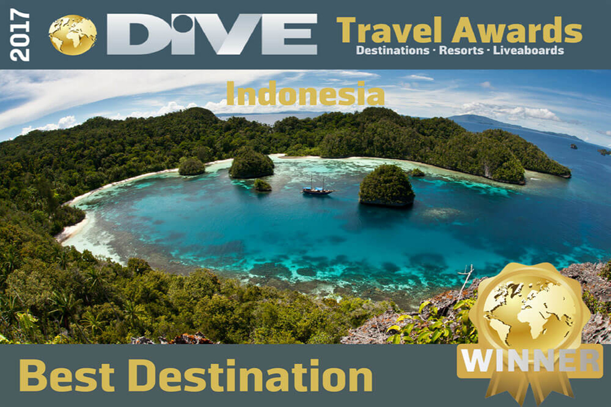 Indonesia Named Top Dive Destination by DIVE Travel Awards 2017