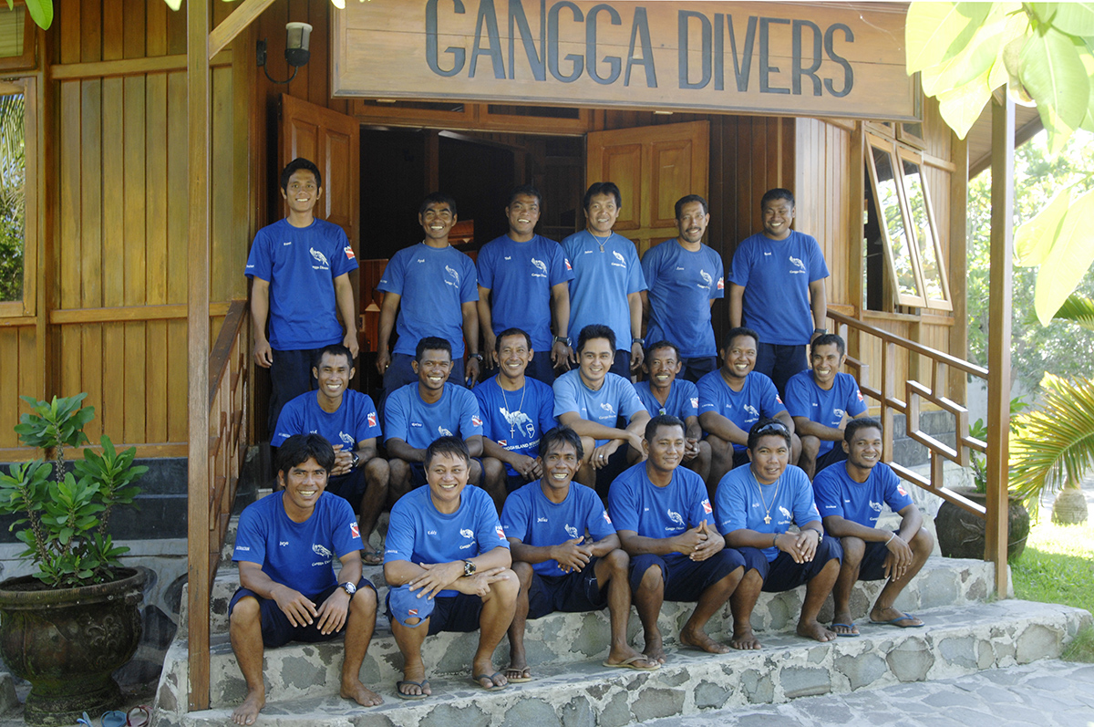 Gangga Divers Team at Gangga Island Resort and Spa in North Sulawesi
