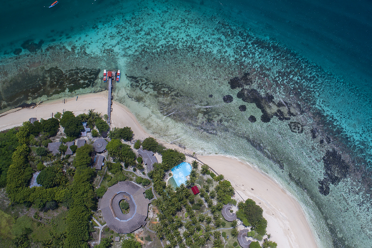 Gangga Island Resort and Spa in North Sulawesi, Indonesia