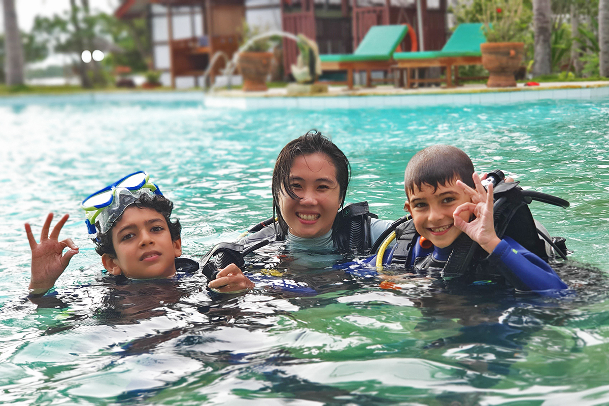 Diving with kids in North Sulawesi